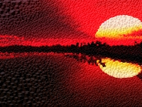 sunset-color-red-cube-mosaic