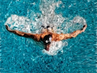 swimming-sport-vector-mosaic